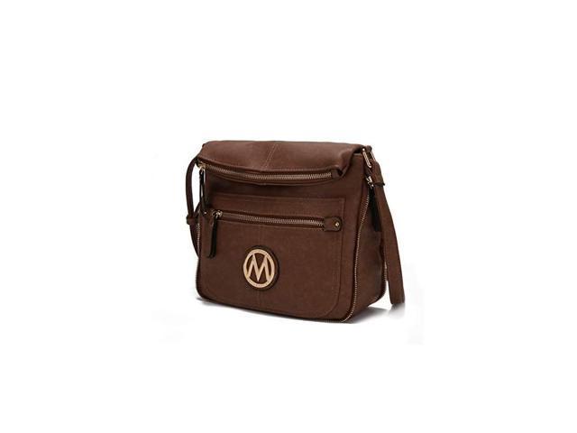 Crossbody Bag for Women PU Leather Expandable Messenger Purse Designer Pocketbook Handbag Shoulder Strap Khaki (Electronics Computer Components Laptop Parts) photo
