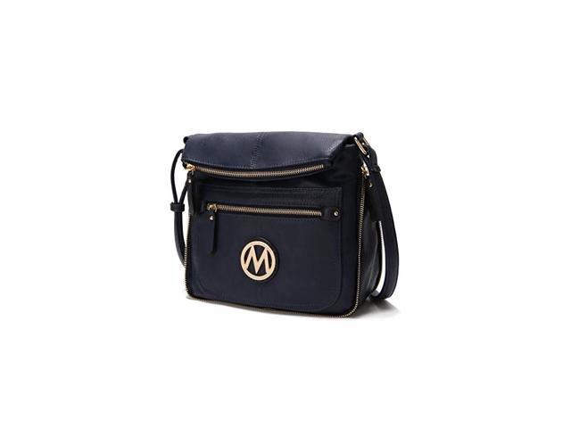 Crossbody Bag for Women PU Leather Expandable Messenger Purse Designer Pocketbook Handbag Shoulder Strap Navy (Electronics Computer Components Laptop Parts) photo