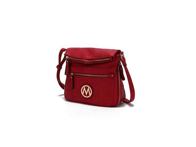 Crossbody Bag for Women PU Leather Expandable Messenger Purse Designer Pocketbook Handbag Shoulder Strap Red (Electronics Computer Components Laptop Parts) photo