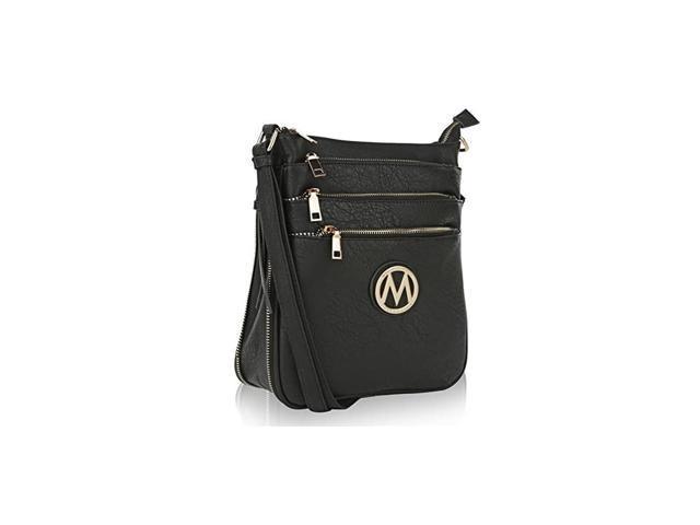 Crossbody Bag for Women PU Leather Expandable Messenger Purse Designer Pocketbook Handbag Shoulder Strap Black (Electronics Computer Components Laptop Parts) photo