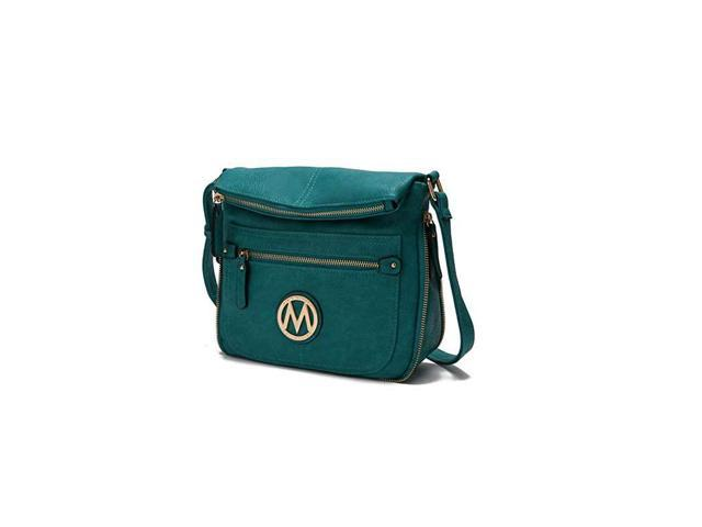 Crossbody Bag for Women PU Leather Expandable Messenger Purse Designer Pocketbook Handbag Shoulder Strap Teal (Electronics Computer Components Laptop Parts) photo