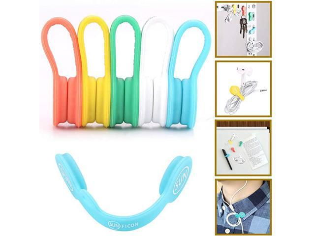 Magnetic Cable Organizers Clips Earbuds Cords Winder Bookmark Clips Whiteboard Noticeboard Fridge Magnets USB Cable Manager Ties Straps for. photo