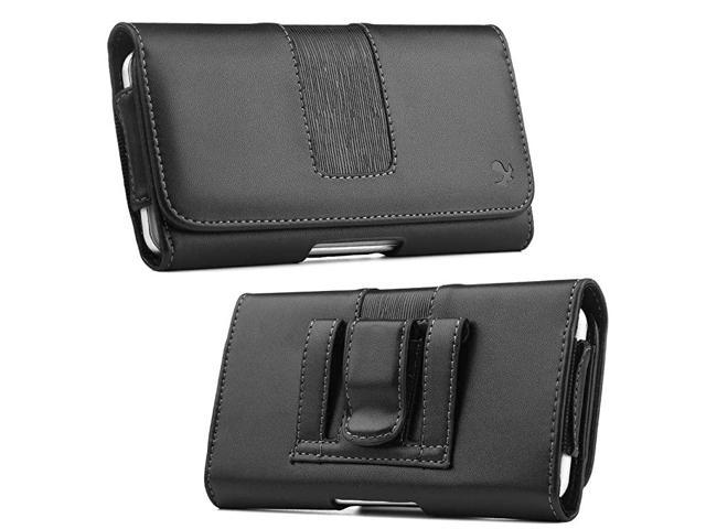 Cell Phone Holster for iPhone 12 Pro Max Belt Case Horizontal Leather Cellphone Pouch Belt Clip Case Holder Cover for iPhone Xs Max 8 Plus 11 Pro.