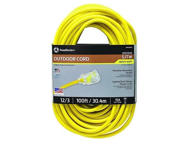 25890002 2589SW0002 Outdoor Cord123 American Made SJTW Heavy Duty 3 Prong Extension Cord Water Resistant Vinyl Jacket for Commercial Use and Major. photo