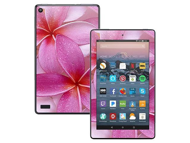 Skin Compatible with Kindle Fire 7 2017 Flowers Protective Durable and Unique Vinyl Decal wrap Cover Easy to Apply Remove and Change Styles.