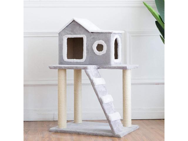 CO-Z Cat Tree Condo Tower with Ladder and Scratching Posts Kitty Trees House Bed Furniture for Kittens (Home & Garden Lawn & Garden Outdoor Living) photo