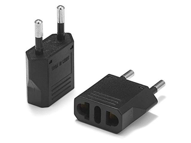 United States To Poland Travel Power Adapter To Connect North American Electrical Plugs To Polish Outlets For Cell Phones, Tablets, Ereaders, And. photo