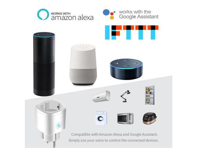WiFi Smart Plug 16A Power Monitor Timing Function Remote Control Home Appliances Works With Alexa Google Home No Hub Required photo