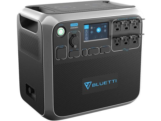 BLUETTI Portable Power Station AC200P 2000Wh Solar Generator with LiFePO4 Battery Cell Backup Battery with 6AC 110V/2000W DC12V PD 60W USB-C Dual. photo