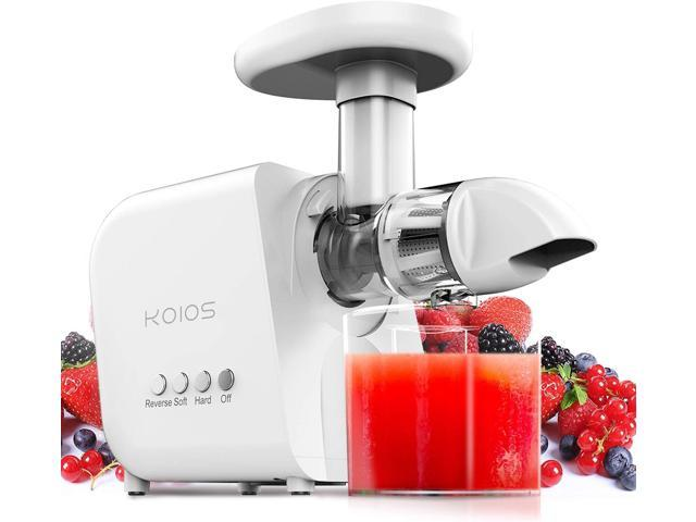Juicer, KOIOS Slow Masticating Juicer Extractor, Juice Fountain, Cold Press Juicer Machine with Quiet Motor & Reverse Function, High Juice Yield. photo