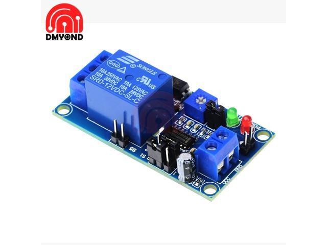 DC 12V Normally Open Delay Relay Switch Module with Timer Electronics Adjustment Potentiometer Delay Turn On Delay Turn off photo