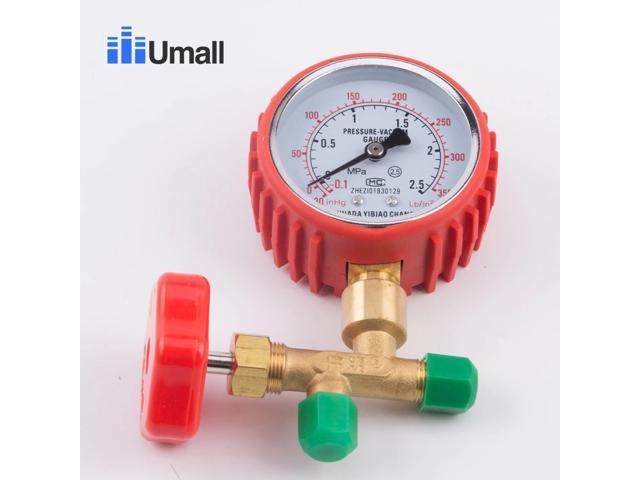 air conditioning add fluorine three way fluorine meter valve belt refrigerant table pressure gauge refrigerator repair tool part photo