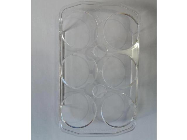 Quality Refrigerator Parts 6 holes Transparent plastic egg case replacement for Haier Universal Fridge 159X95X23MM photo