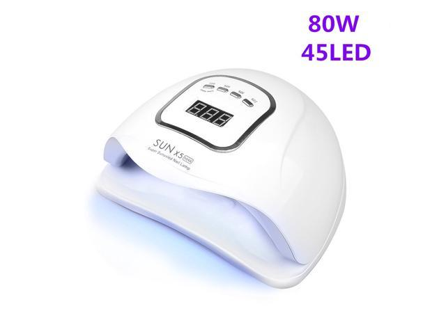 08 LED Nail Lamp for Manicure 80W Nail Dryer Machine UV Lamp For Curing UV Gel Nail Polish With Motion sensing LCD Display photo
