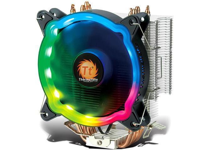 Thermaltake RGB CPU Cooler PWM Snap-on Fan 4 Direct Contact Heat Pipes Through Fin Technology Multi-platforms Dynamic RGB Color (772468643463 Electronics Computer Components) photo