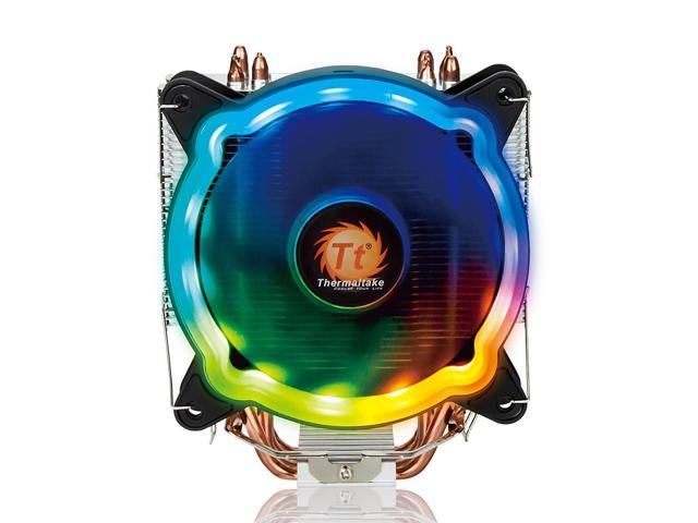 Thermaltake RGB CPU Cooler PWM Snap-on Fan 4 Direct Contact Heat Pipes Through Fin Technology Multi-platforms Static RGB Color (772468643470 Electronics Computer Components) photo