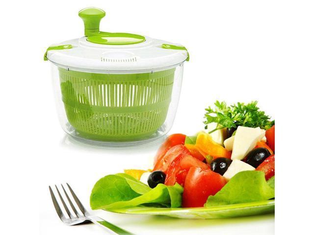 Vegetable Salad Spinner Dehydrator Washer Dryer Clean Fruits Basket Serving Bowl photo