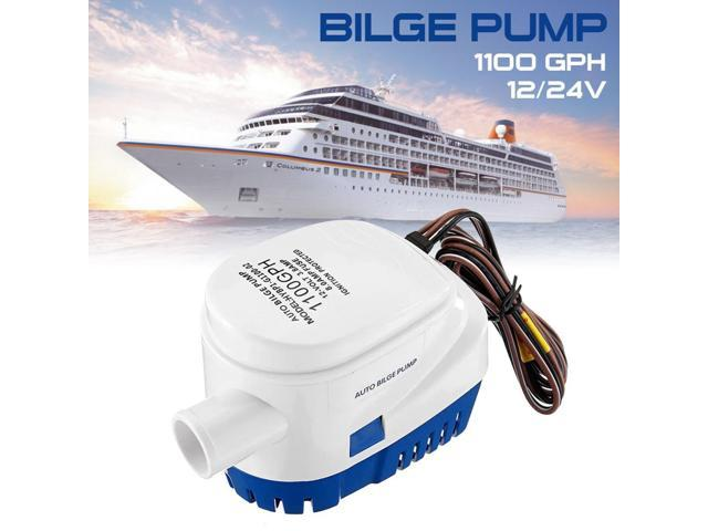 12V Electric Boat Pump Yacht Submersible Boat With Float Switch Accessories Fishing Motor Bilge Pump Automatic Water Houseboat photo