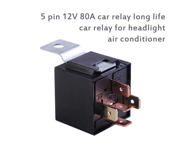 5Pin 80A Waterproof Car Relay Long Life Automotive Relays Normally Open DC12V For Head Light Air Conditioner Automobile Relay photo