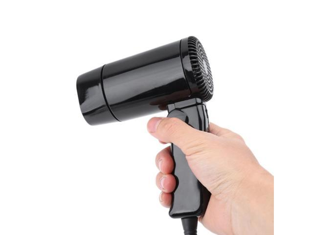 Portable 12V -styling Hair Dryer Hot & Cold Folding Blower Window Defroster photo