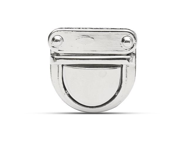 Metal Oval Shape Clasp Turn Lock Twist Lock for DIY Handbag Bag Purse Hardware Silver - Silver (silver) (Luggage & Bags) photo