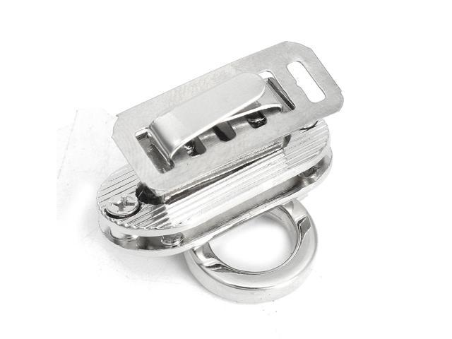 Metal Round Shape Clasp Turn Twist Lock for Leather Handbag Bag Purse Hardware Silver - Silver (silver) (Luggage & Bags) photo