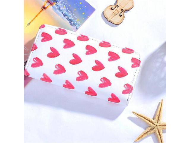 Women Lady Flamingo Heart Long Purse Handbag Card Holder Leather Clutch Wallet - Apricot (Luggage & Bags) photo
