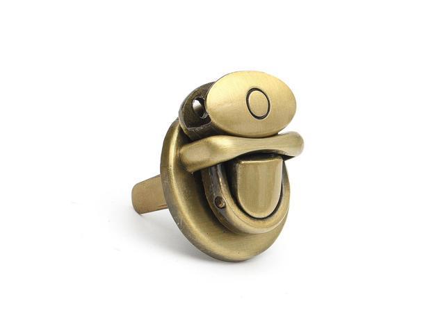 New Metal Round Shape Clasp Turn Lock Twist Lock DIY Handbag Bag Purse Hardware Bronze - Bronze (bronze) (Luggage & Bags) photo