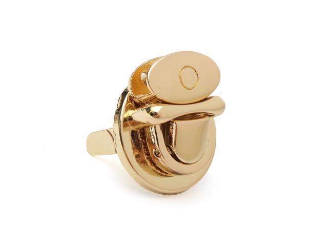 New Metal Round Shape Clasp Turn Lock Twist Lock DIY Handbag Bag Purse Hardware Gold - Gold (Luggage & Bags) photo