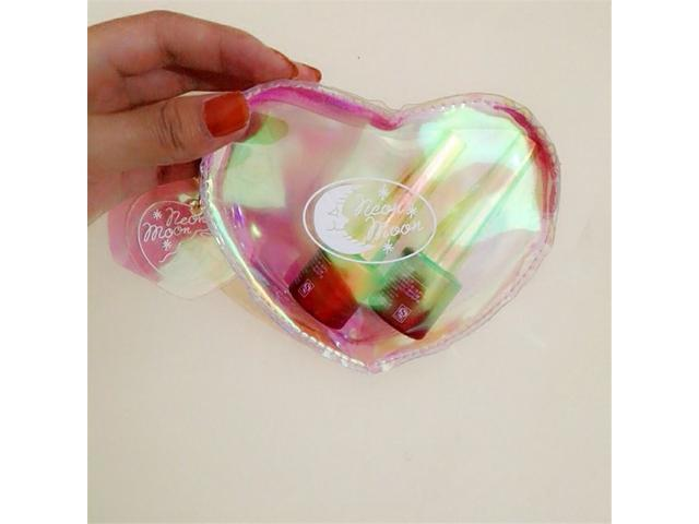 Korean version of laser reflection transparent love change bag, hand bag containing small packets of coins, lovely girls Purse - laser (Luggage & Bags) photo