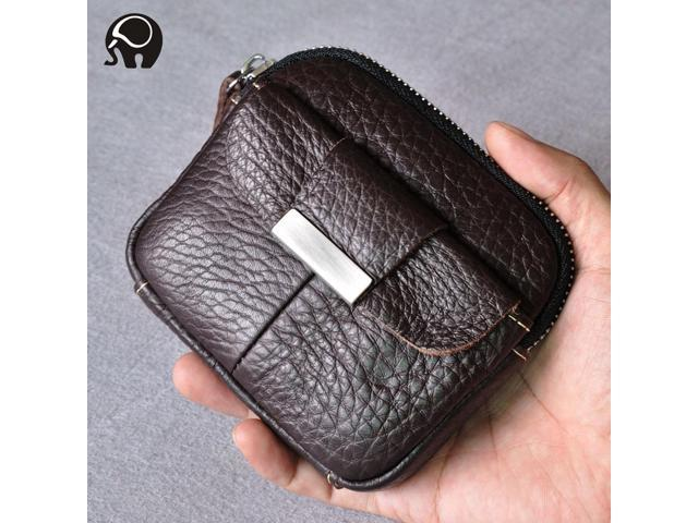 Men Purses Wallets Men's first layer leather pockets Leisure Wallet Key case Short - Avocado (Luggage & Bags) photo