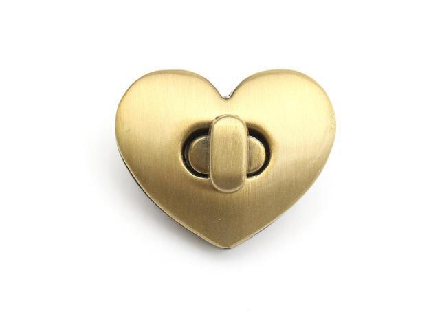 Heart Shape Clasp Turn Lock Twist Lock Metal Hardware For DIY Handbag Bag Purse Bronze - Bronze (Luggage & Bags) photo