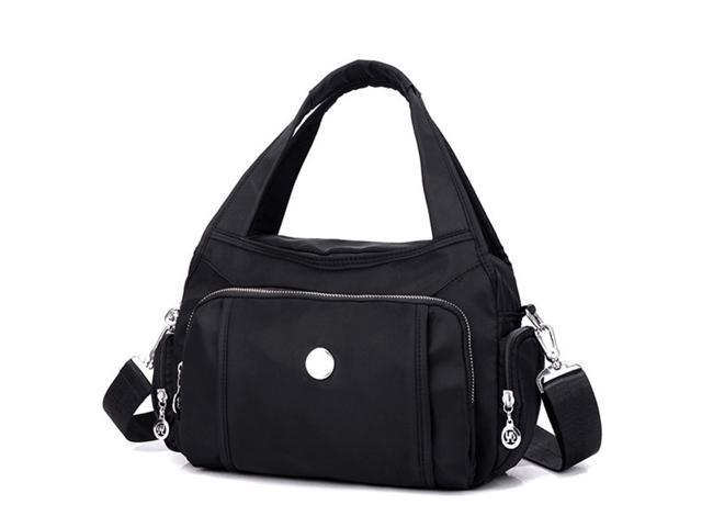 Women Anti-theft Waterproof Nylon Casual Handbag Travel Shoulder Bag Girl Purse - Black {average size} (Luggage & Bags) photo