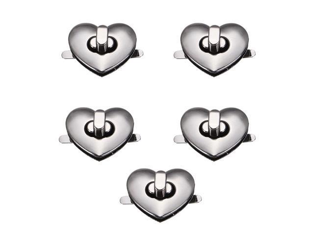 Heart Shape Clasp Turn Lock Twist Lock Metal Hardware For DIY Handbag Bag Purse - 2Bronze (Luggage & Bags) photo