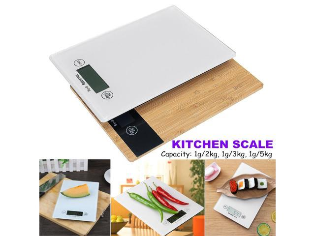 Digital Electronic Kitchen Scale Food Diet Balance Weight Measure MAX.1g/5kg - bamboo photo
