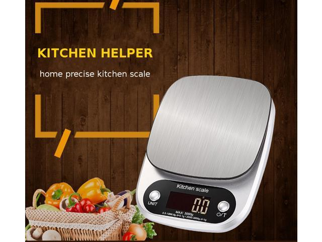 5kg/0.1g 10kg/1g Portable Digital Scale LED Electronic Scales Food Measuring Weight Kitchen LCD Stainless Steel Scales G OZ ML - 10kg photo