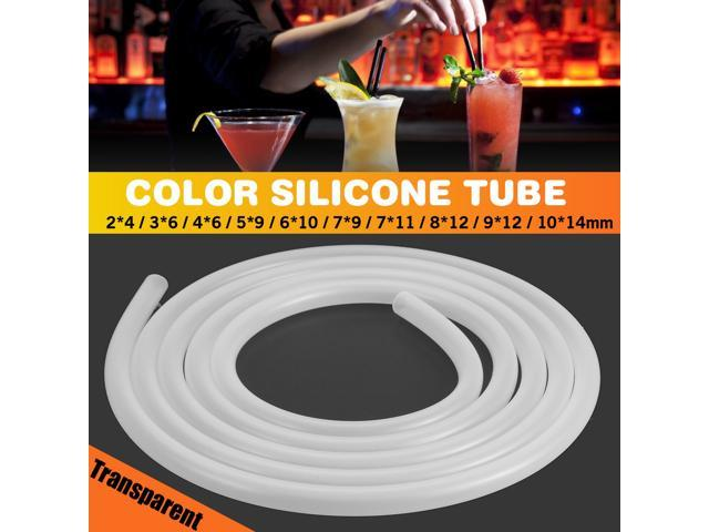 High quality Transparent High Temperature Resistant and Tasteless Silicone Tube Transparent Silicone Rubber Tube Food Grade Water Beer Air Pump. (Home & Garden Household Supplies) photo