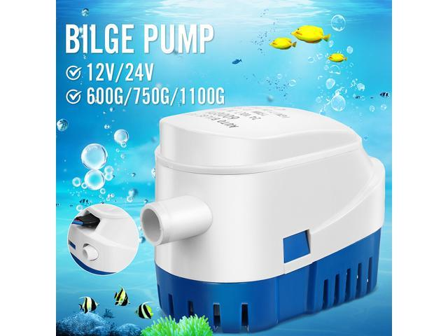 12V/24V 600-1100GPH Boat Marine Auto Submersible Bilge Water Pump Float Switch - 12V600G photo