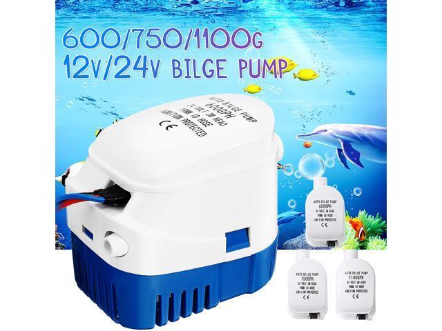 12V/24V 600-1100GPH Boat Marine Auto Submersible Bilge Water Pump Float Switch - 12V750G photo