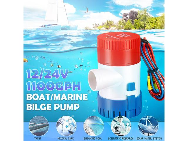 1100GPH Marine Bilge Pump Submersible Water Pump 12V / 24V Electric Yacht Boat - 12v photo