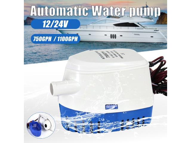 12V Automatic Bilge Pump Motor Electric Boat Pump Yacht Submersible Boat Fishing Automatic Water Houseboat With Float Switch - 24V 750 photo