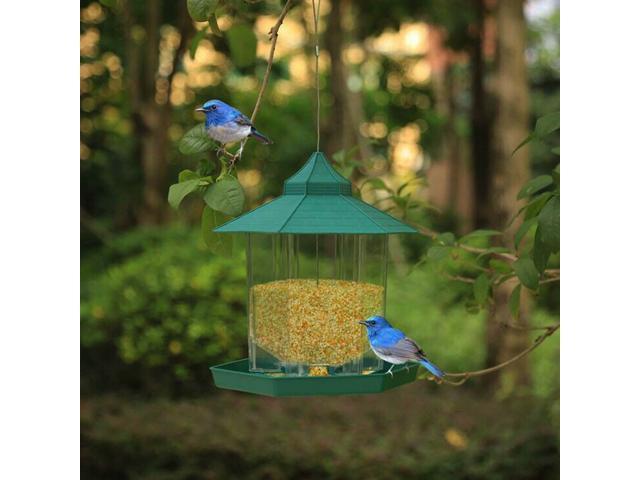 Bird Feeder Hanging Garden Decoration Gazebo Wild Bird Seed Feeders Garden - (Home & Garden Lawn & Garden) photo