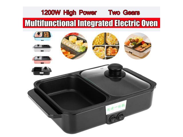 220V Electric Oven Roaster Comfortable Detachable Cooker 1200W Multifunctional - Black photo