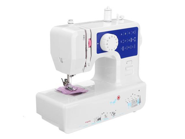 Professional Electric Sewing Machine 12 stitch Portable Multi-Function Household - Blue panel without light photo