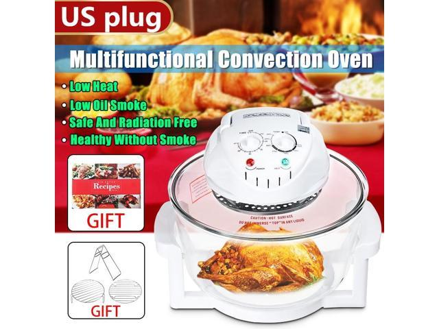 17L 1300W Air Fryer Turbo Convection Oven Roaster Electric Cooker with Recipes Clip Cooker Accessories Gifts?Will get the recipe book, free gift? photo