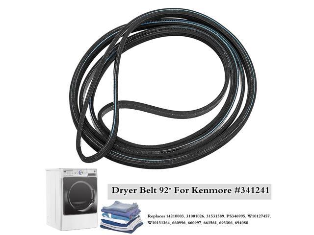 92' Dryer Rib Belt For Kenmore Maytag Whirlpool Amana 341241 AP2946843 PS346995 - photo
