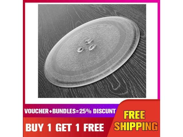 ?BUY 1 GET 1 FREE? 24.5cm Microwave Oven Glass Plate for Galanz, Midea, Haier Microwave Oven Parts - photo
