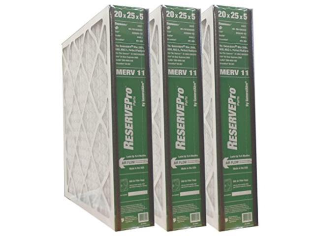 3-pk reservepro 4551 (old #4501) 20'x25'x5' air filter-actual size= 19 5/8' x 24 3/16' x 4 15/16'- 6fm2025 photo