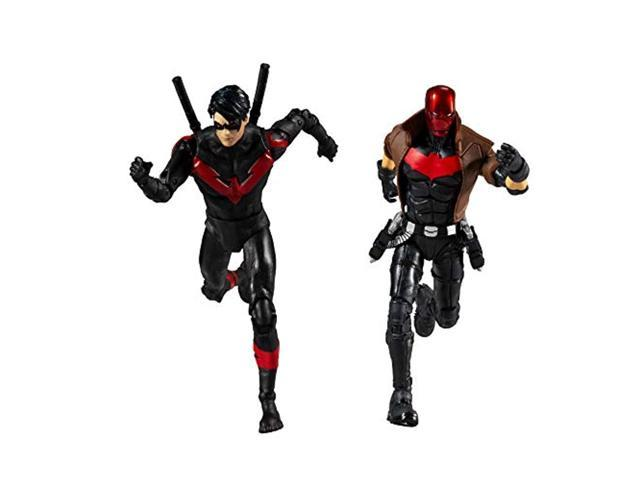 mcfarlane toys dc multiverse red hood and nightwing 7' action figure multipack photo