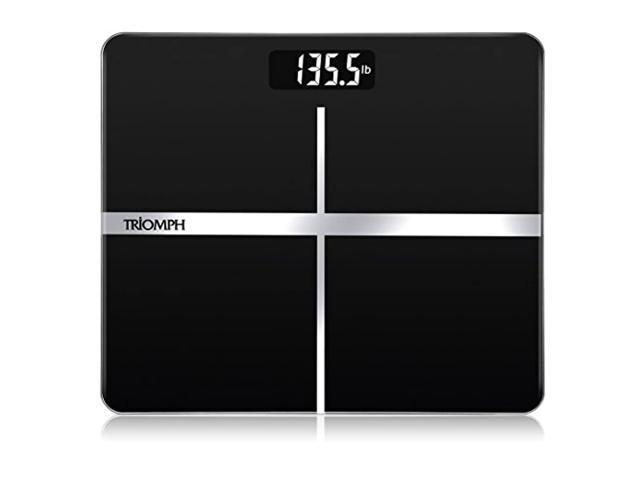triomph precision digital body weight bathroom scale with backlit display, step-on technology, 400 lbs capacity and accurate weight measurements. (718930071457 Health & Beauty Health Care Biometric Monitors Body Weight Scales) photo